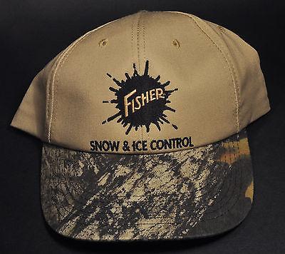 Fisher Snow Plow Logo Adjustable Clasp Strap Cap Hat