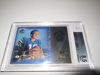 Reduced- 1998  Peyton Manning SP Authentic Rookie Card Subgrade  9.5...