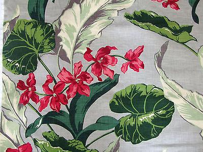 40's-50's Drapery Piece Barkcloth Era Fabric 42