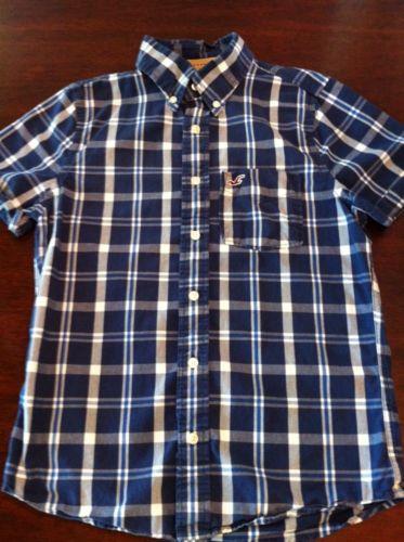 Hollister Men's Short Sleeve Button-Up Shirt - Small