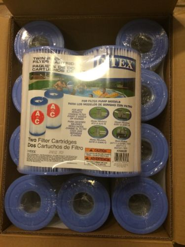 Intex Type A Filter Cartridge for Pools, Twin Pack, Type A 12-Pack