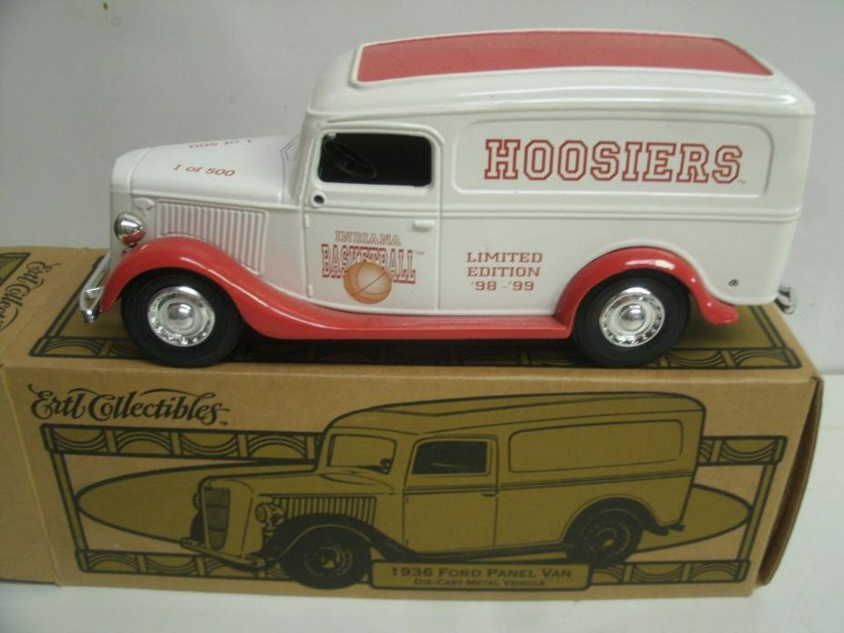 Ertl Collectibles '36 Ford Panel Van Indiana University Hoosiers Lmt Ed. 1/500