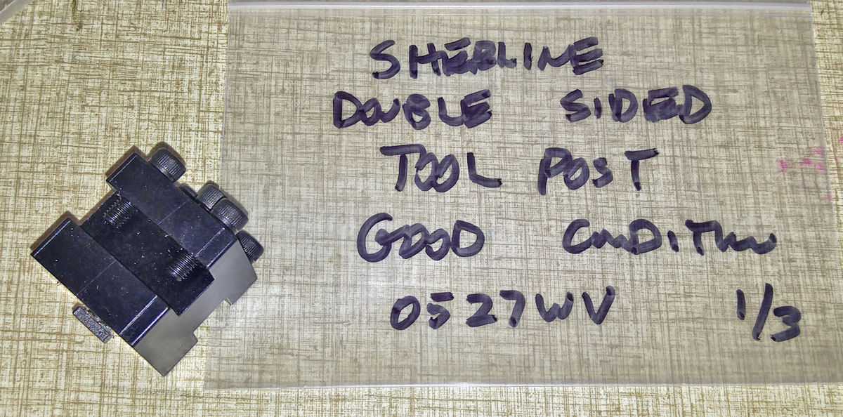 Sherline Double Sided Tool Post    0527WV