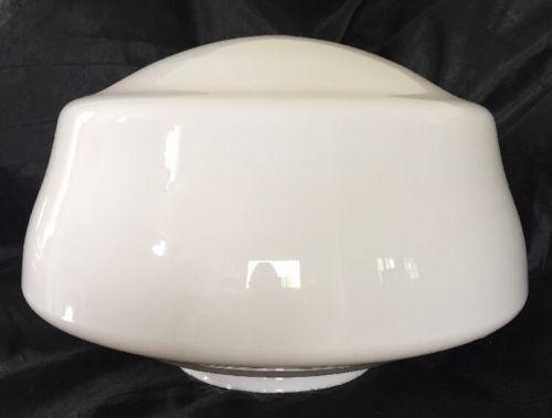 Large VTG 14 School House Industrial Commercial Milk Glass Light Globe 6