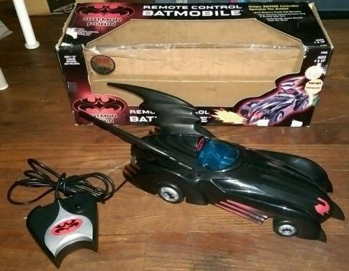 1997 Batman & Robin Remote Control Batmobile RC Car In Box Vintage Toy