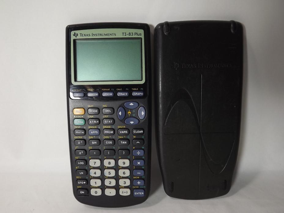 Texas Instruments TI-83 Plus Scientific Graphing Calculator  W/ Cover FREE SHIP