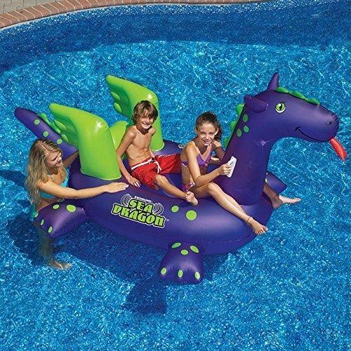 Swimline Inflatable Float Ride On Raft Swim Giant Sea Dragon Pool Toy Fun Pool