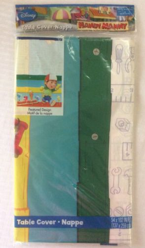NEW Disney Handy Manny Table Cover Plastic 54 X 102
