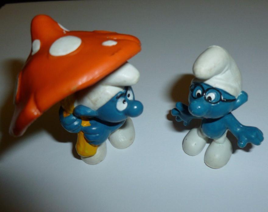Smurf mushroom