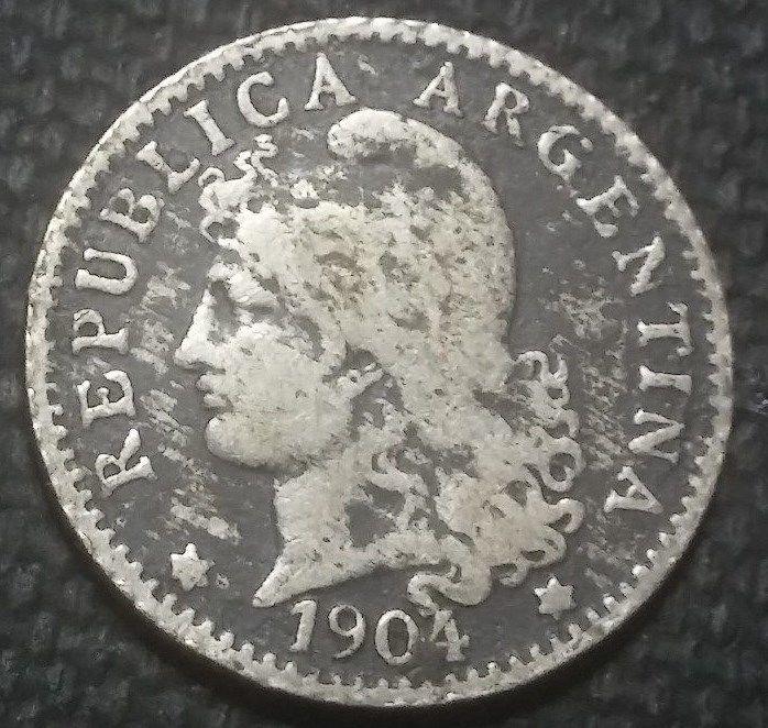 Argentina 1904  5 CENTAVOS Obv: Capped liberty head