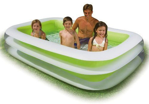 Inflatable Family Pool Swim Center Swimming Water Center Outdoor Backyard Fun