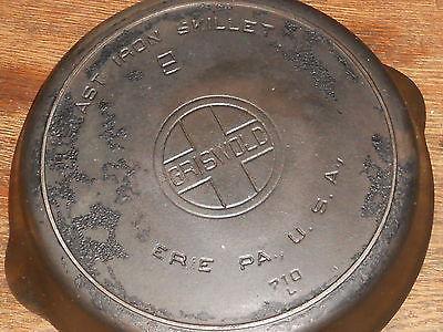#9 GRISWOLD, cast iron skillet ,710 L Large Block Logo, ERE PA USA