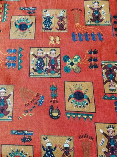 Vintage V.I.P. Cranston Print Works Joan Mess more Multicolor Cotton Fabric 4 Yd