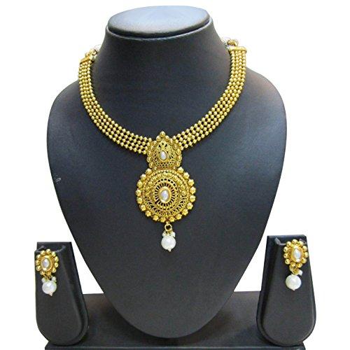 Bollywood Designer Ethinic Indian Premium Rajasthani Polki Drop Necklace Set