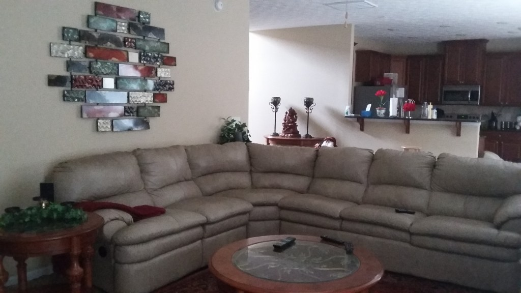 Leather Sectional Sofa with Queen size Mattress
