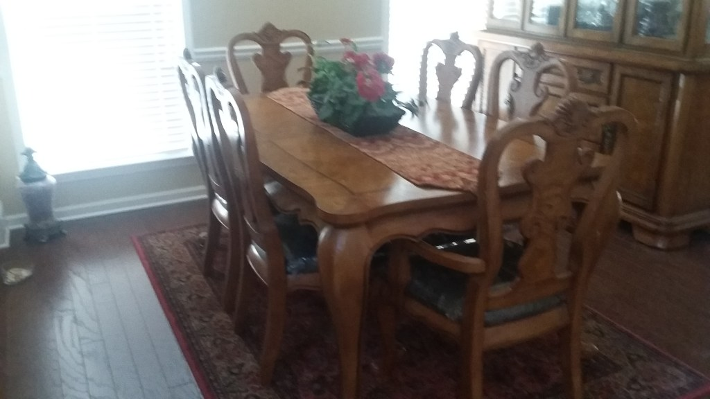 Formal Dinette Set with China Cabinet
