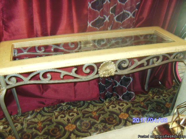Moving Sale!!!! 3 marble rust glass tables