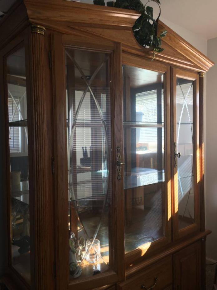 Beautiful solid oak china cabinet