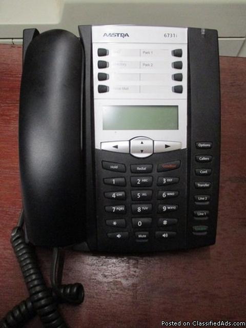 (7) Aastra 6731i IP Phones w/ Desktop RTR#6112093-01