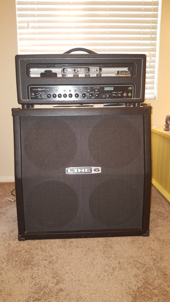 $600 Line 6 Spider MKII HD100 Head and Half Stack