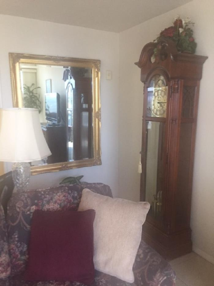 Bedroom set and grandfather clock