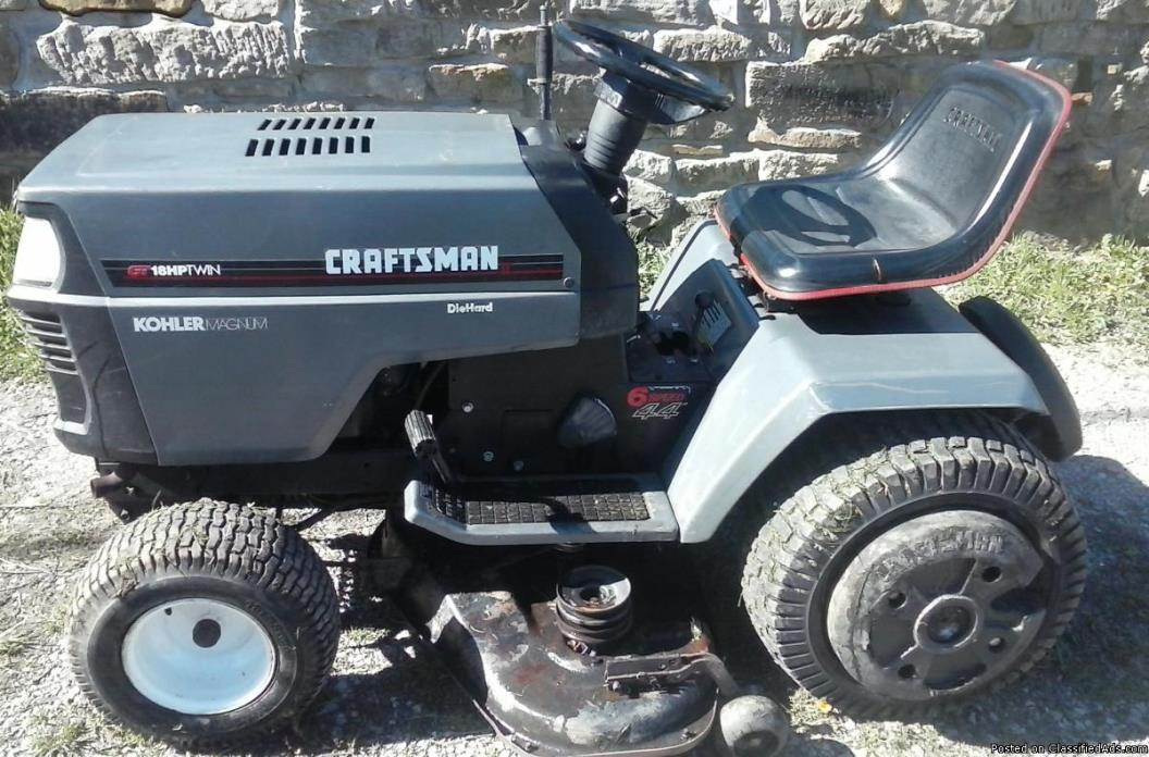 Craftsman Garden Tractors For Sale Classifieds