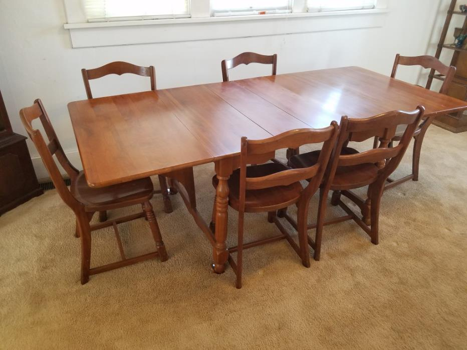 Solid Maple Dining Set with matching China Hutch