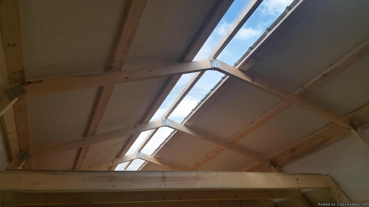 12x30 Beautiful bright wood frame double loft and skylights
