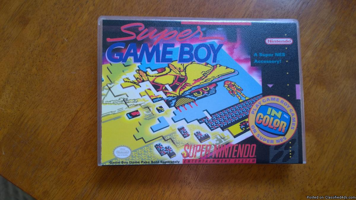 Super Gameboy for th SNES w/Case & Manual
