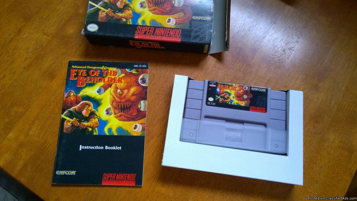 Eye of the Beholder (AD&D) SNES, Very Good!