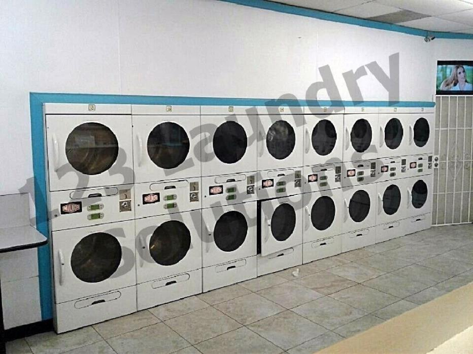 Heavy Duty Single Unit ADC/Milnor M30/30ESG Double Stack Dryers AS-IS