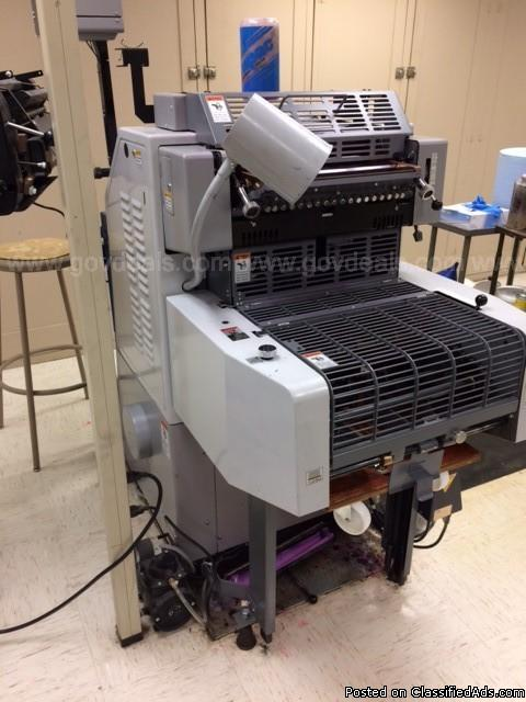 Ryobi 3200CD with a T51 AE for 2-color printing