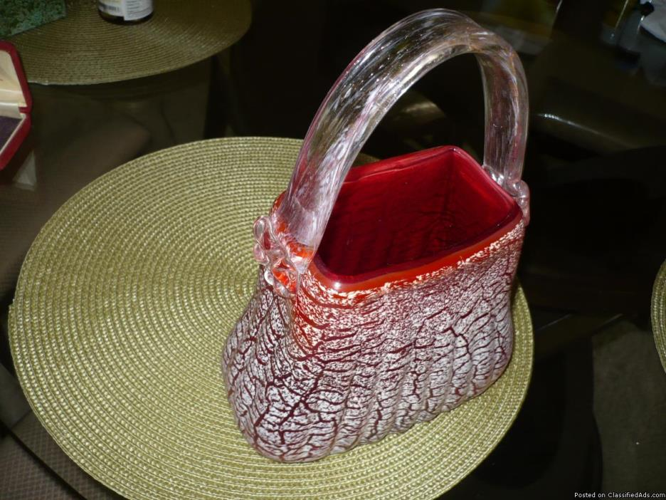 original murano italian vase shape like purse and more