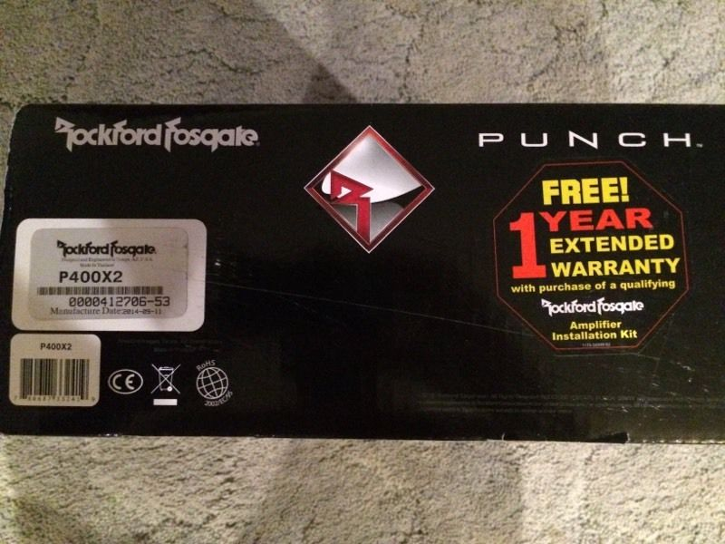 Rockford Punch P 400x2 amp