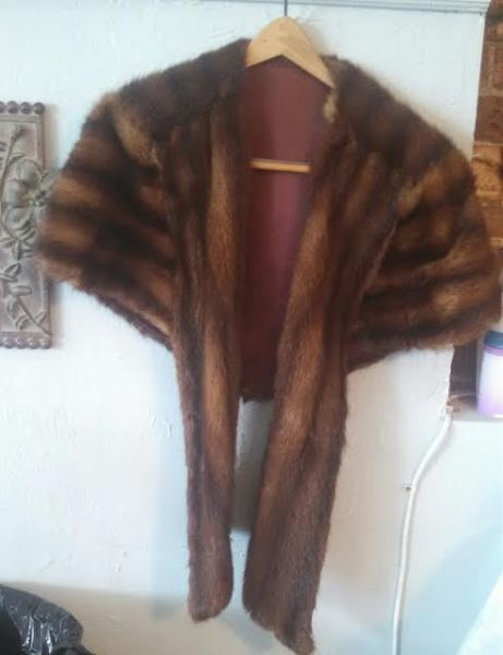 Custom Made Mink Stole from the 1950's