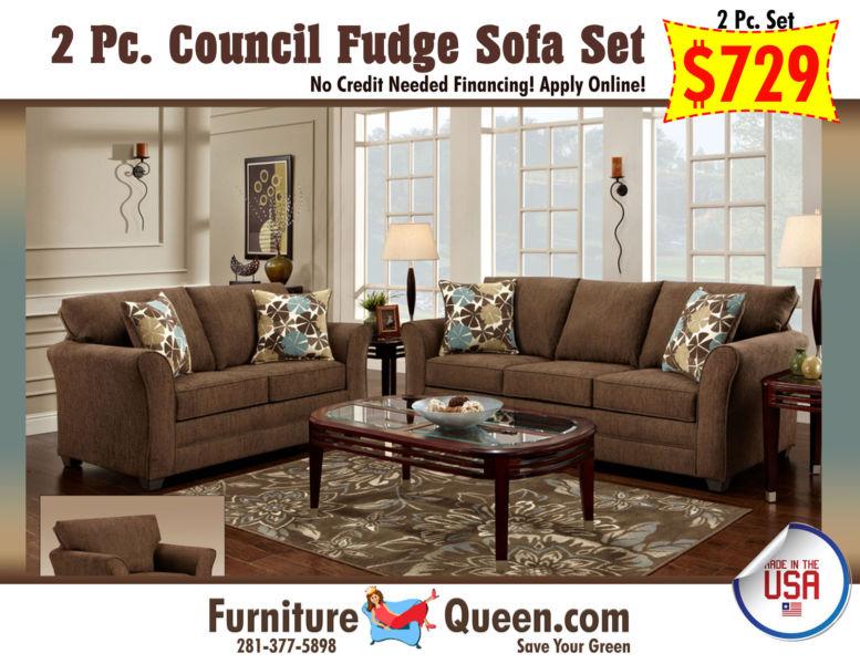 Council Fudge Sofa & Loveseat