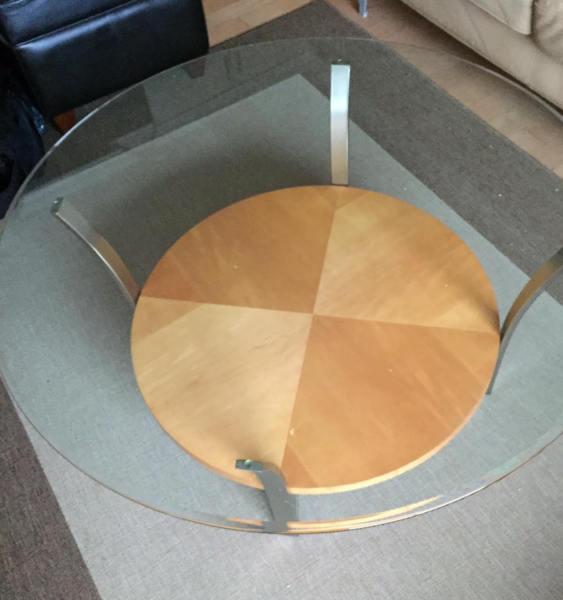 Modern Glass/Wood coffee table