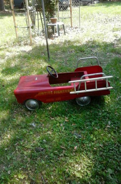 Antique pedal car,