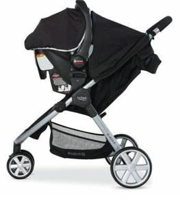 2013 britax b-agile travel system (stroller, car seat, adapters