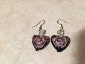 Beautiful glass blown earrings (Upper East Side)