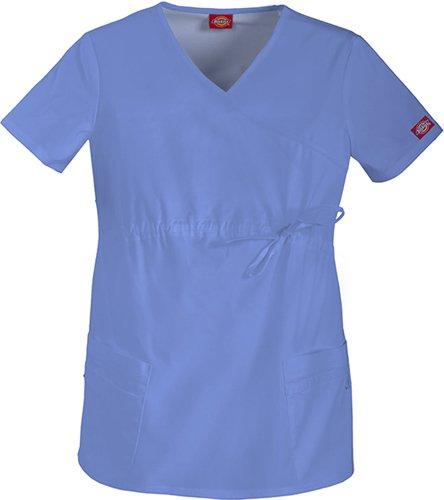 Gen Flex by Dickies Women's Maternity Mock Wrap Solid Scrub Top