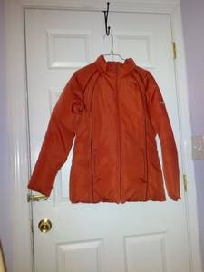 orange puffer down jacket size M (18th_&_bainbridge)