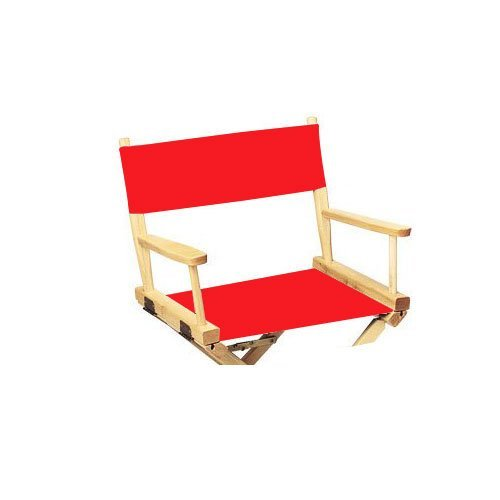 Replacement Cover Canvas for Director's Chair (Flat Stick) (Red)