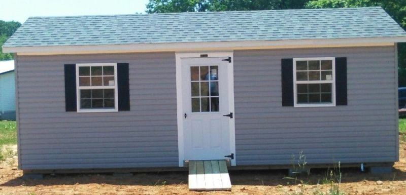 AMISH BUILT Vinyl Insulated Wired Storage Building