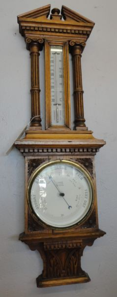 Antique Barometer with Carved Case