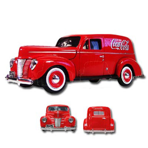 Coca-Cola DieCast 1940 Ford Delivery Panel Van 1:18 Scale