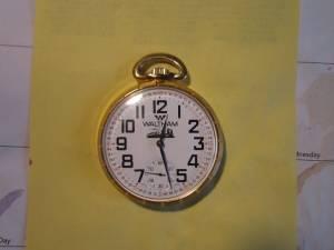 Waltham 17Jewel Mens Railroad Pocket Watch (watertown)