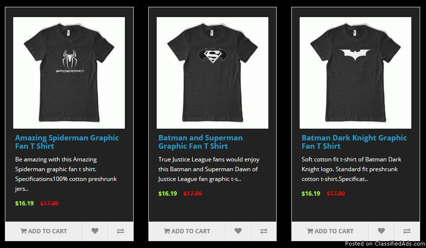 Special Father's Day Sale on All Super Hero T Shirts