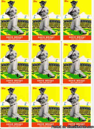 David Wright (10) 2007 Topps Flashback Fridays FF5