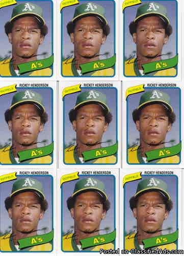 Rickeyn Henderson (10) 2006 Topps Rookie of the Week (Rookie Year 1980)
